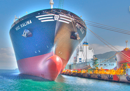 Container Ship MSC Kalina HDR