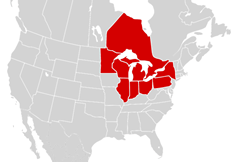 Maritime States-bordering-the-great-lakes