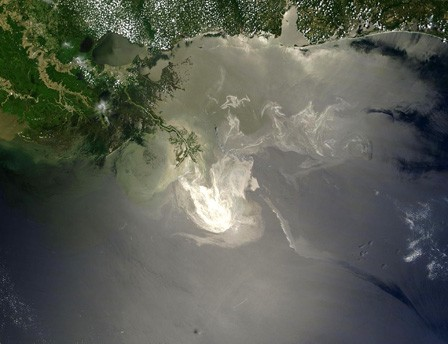 A NASA photograph shows the extend of the Gulf Oil Spill in 2010. Photo: NASA.gov