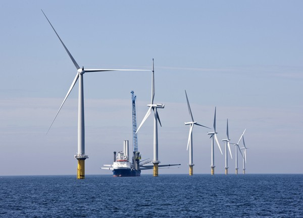 Installation of Windpark Horns Reef 2, Denmark in Summer 2009
