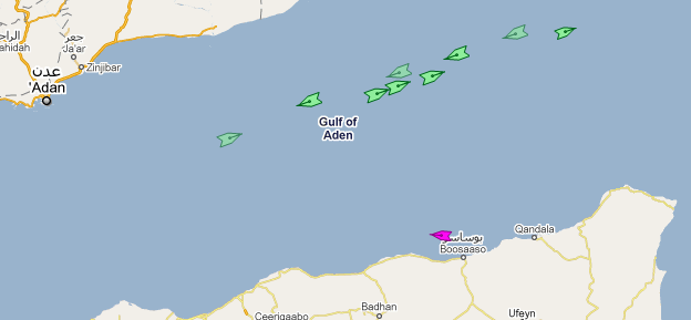 Gulf Of Aden AIS Screenshot