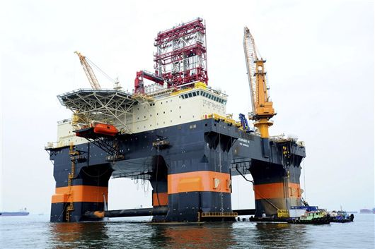 Scarabeo 9 cuba drilling semi-submersible deepwater repsol yantai raffles
