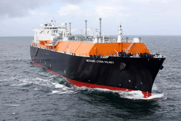 Methane Lydon Volney LNG Ship BG Group Giles Barnard