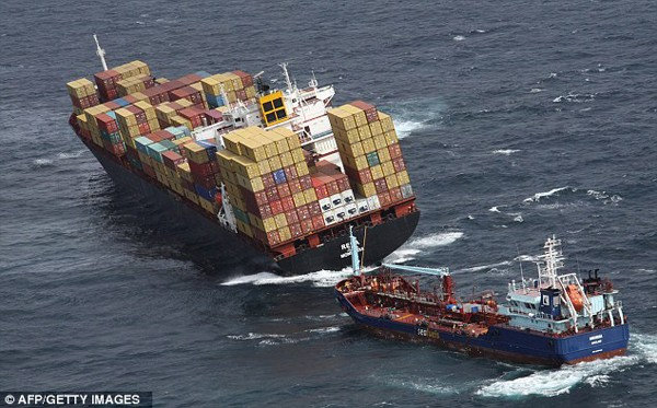MV Rena astrolabe reef new zealand containership aground