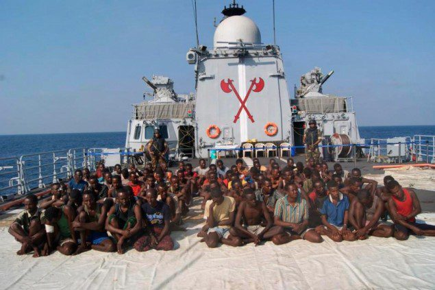Somali pirates captured by Indian Navy
