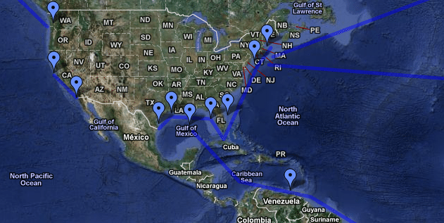 North America Voyages - Google Earth