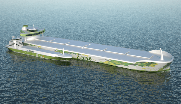 Photo: The 'ECORE', a VLOC concept design developed by class society DNV in partnership with FKAB, TGE Marine, Cargotec and MAN Diesel & Turbo.