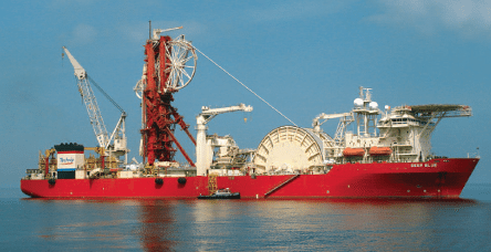 Technip's Deep Blue, the world's largest purpose-built ultra deepwater pipelay and subsea construction vessel. Photo: Technip