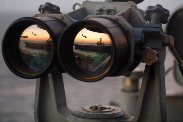 binoculars us navy nimitz-class aircraft carrier intelligence big eyes