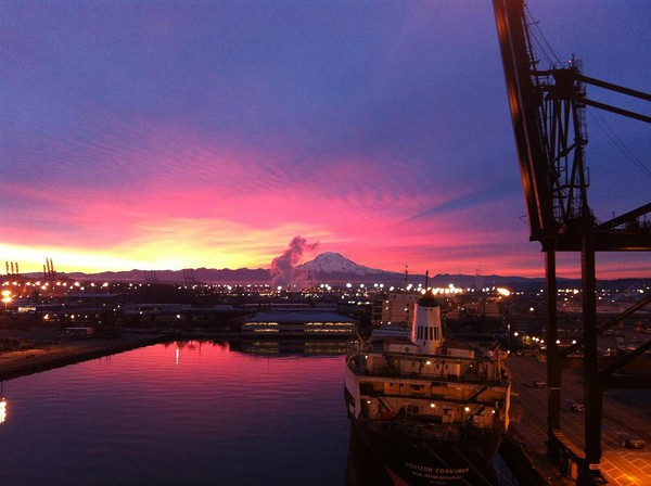 Mt. Rainier port of seattle dustin lemke