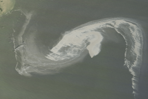 The Gulf Oil Spill as seen by a Nasa Satellite. Photo: NASA