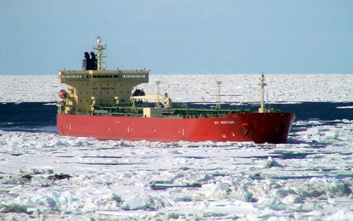 STI Heritage scorpio tanker north sea route