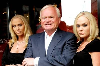 John Fredriksen With His Daughters Kathrine and Cecilie