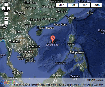 south china sea google map