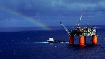 Marlin semi-sub platform in the Gulf of Mexico, USA. Photo  BP p.l.c.