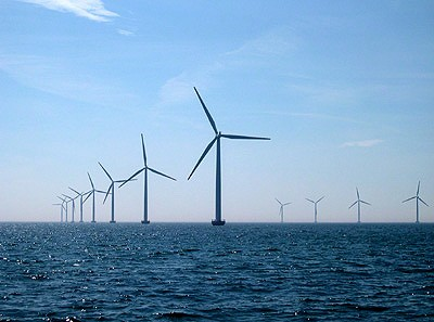 The Nysted offshore wind farm off the coast of Denmark in the Baltic Sea. Photo: Cape Wind