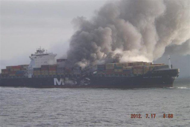 The MSC Flaminia on July 17