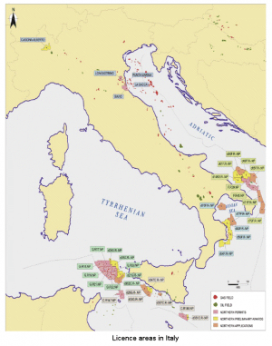 italy offshore oil fields 