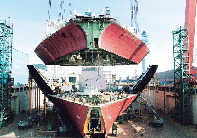 hyundai heavy shipbuilding shipyard