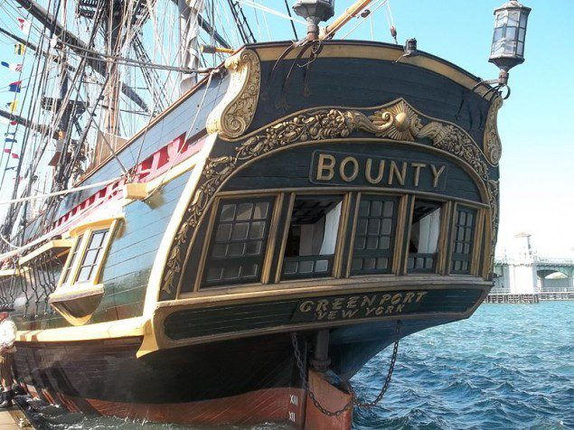 File photo of the Bounty docked at St. Augustine, Florida.