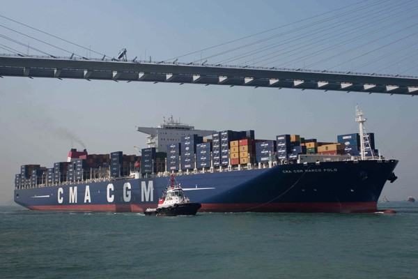 Once delivered, the ships for CMA CGM Marco Polo in Hong Kong