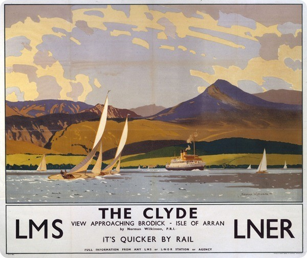 The Clyde, LMS/LNER poster, 1923-1947.