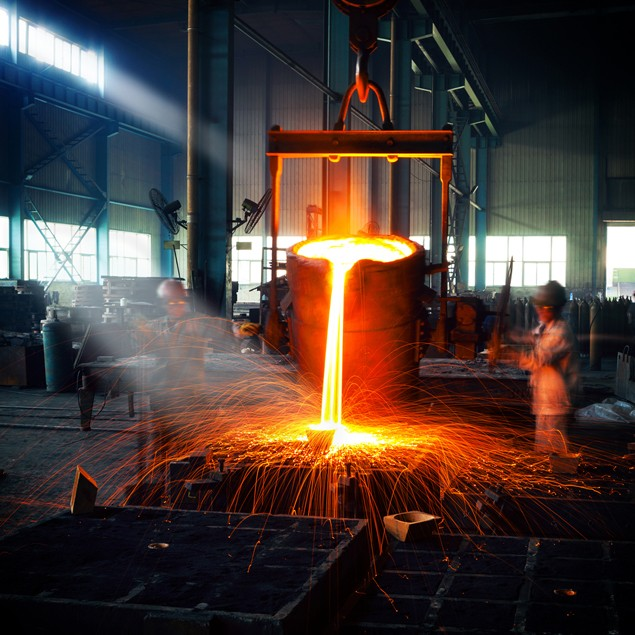 steel manufacturing molten iron industrial