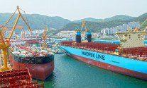 Photo Of The Majestic Maersk at DSME Shipyard Okpo South Korea Photo By John Konrad
