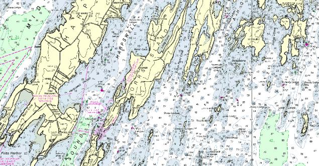 noaa chart 13290 orr's island
