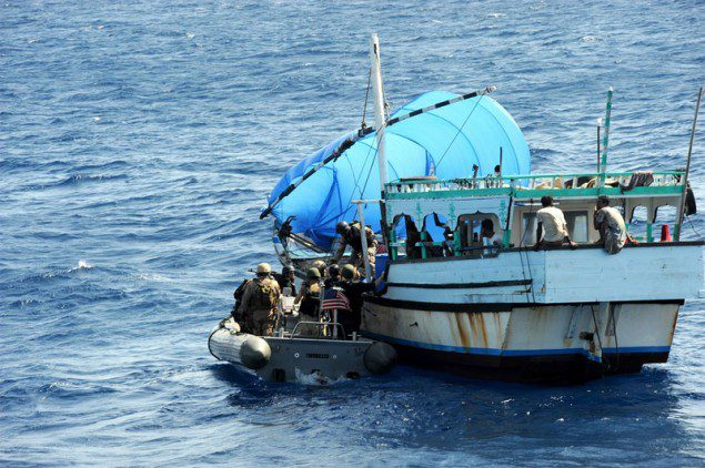 Counter-piracy operations being conducted in the Gulf of Aden and the east coast of Somalia. Photo: U.S. Navy/Ja'lon A. Rhinehart