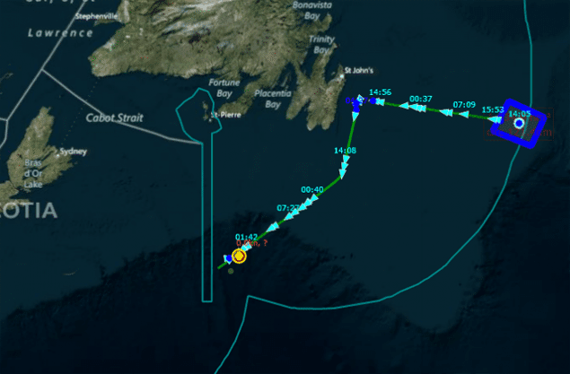 Track of the GSF Grand Banks