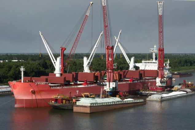 bulk carrier mississippi river dry bulk ship shipping
